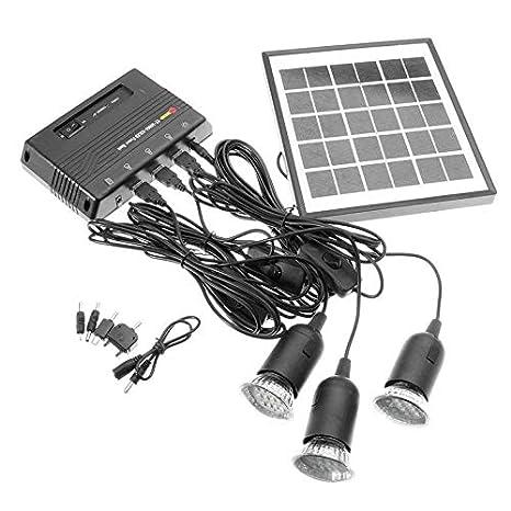 Cargador de luz de lámpara 4W Panel de 6V al aire libre la ...