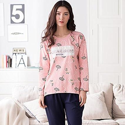 MH-RITA Las ventas de otoño invierno de algodón de manga larga conjunto Pijamas Pijama