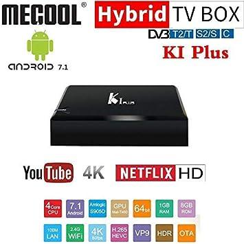 K1 y K 4 Android TV Box - Amlogic S905 Quad Core CPU, 4 puertos USB, DVB-T2 + DVB-S2, Kodi, AirPlay, DLNA, Miracast: Amazon.es: Electrónica