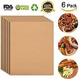 Copper bbq grill mat set of 6 Alimat Plus oven liner reusable