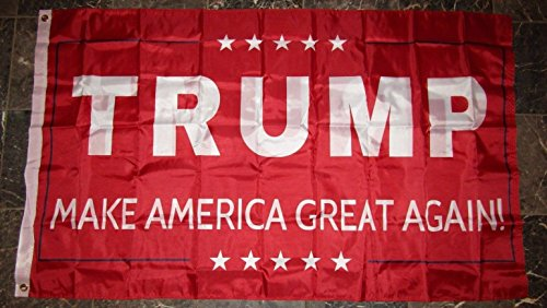Cheap 3×5 Donald Trump Make America Great Again Red Double Sided 2ply Flag 3'x5′