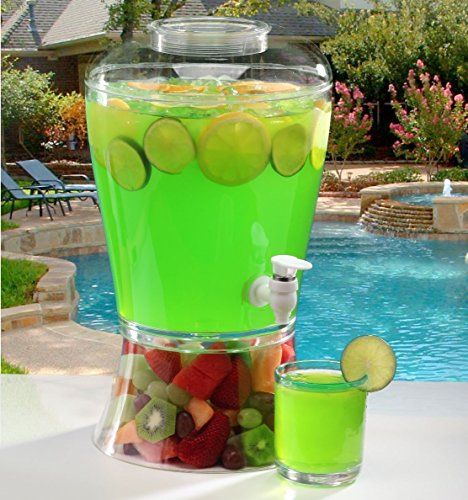 2 Gallon Cold Beverage/Drink Dispenser (2 Gallon Classic) Wedding Punch Fountain