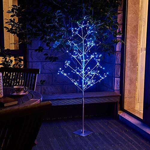 EAMBRITE 5FT Prelit Fairy Tree with 345 led Blue and White Fairy Light Warm White Decor Home Festival Party Christmas Indoor and Outdoor Use