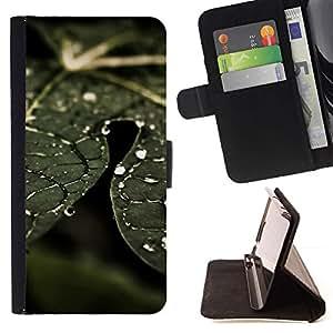 For Samsung Galaxy S4 Mini i9190 (NOT S4) Case , Planta Naturaleza Forrest Flor 74- la tarjeta de Crédito Slots PU Funda de cuero Monedero caso cubierta de piel