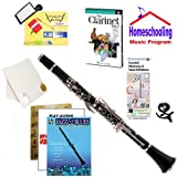 Homeschool Music - Learn to Play the Clarinet Pack (Blues Music Book Bundle) - Includes Student Clarinet w/Case, DVD, Books & All Inclusive Learning Essentials