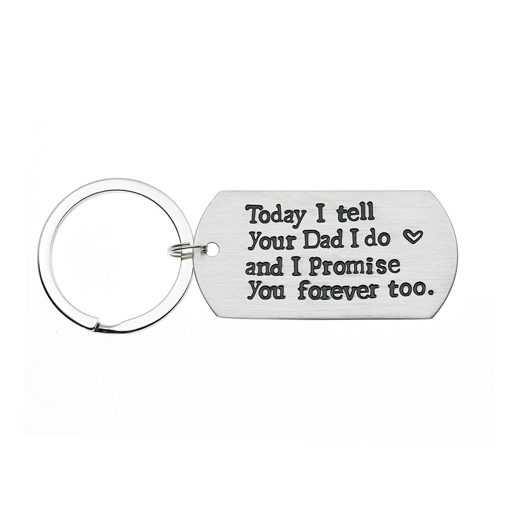 Ms. Clover Blended Family Stepson Stepdaughter Wedding Gift, Bride's Son Groom's Son Marriage Keychain