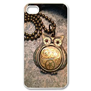 Owl Discount Personalized Cell Phone Case for iPhone 4,4S, Owl iPhone 4,4S Cover