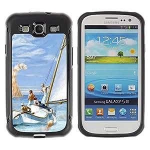Paccase / Suave TPU GEL Caso Carcasa de Protección Funda para - Monster Cat Orange Ginger Sea Boat - Samsung Galaxy S3 I9300