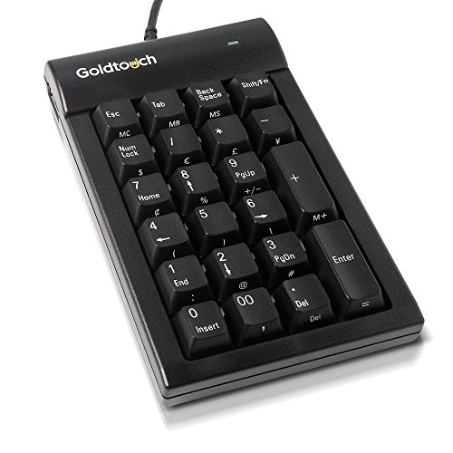 Goldtouch GTC-0077 Numeric Keypad (Black) USB (Goldtouch Black Keyboard)