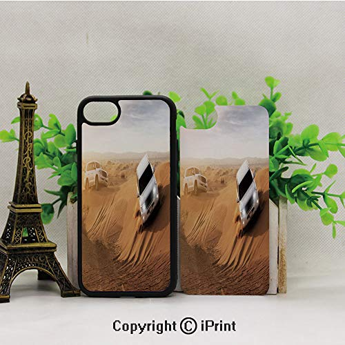 iPhone 8 Case,iPhone 7 Case,Race-in-African-Desert-Safari-Adventure-Exotic-Hobby-Activity-Picture,Lining Hard Shell Shockproof Full-Body Protective Case Cover ()