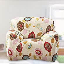 CXYY Indian tight towel full sofa sofa set non-slip elastic fabric sofa set (light yellow) , loveseat