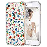 MOSNOVO iPhone 8 Case, iPhone 7 Clear Case, Wildflowers Floral Clear Design Printed Plastic Hard Back Case with TPU Bumper Protective Case Cover for Apple iPhone 7 / iPhone 8