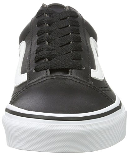 Leather Old True Vans White Black Black Trainers Classic Tumble Adults' Skool Unisex xREwvEqI