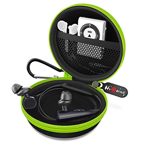 Headphone Case, Portable Protection EVA Hard Earpieces Case_Green
