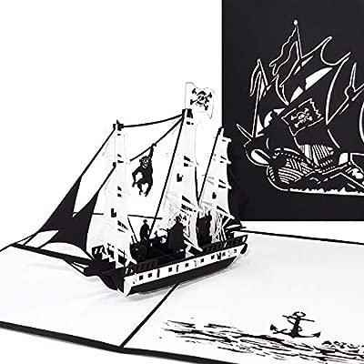 Pop tarjeta de Up Barco Pirata, 3d tarjeta de felicitación ...