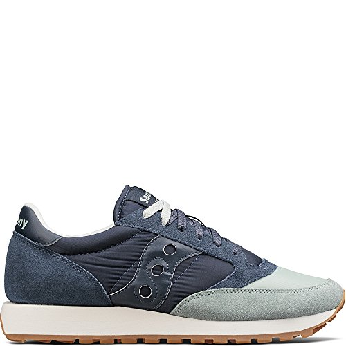 Saucony Originals Men's Jazz Original Sneaker, Aqua Grey Navy, 10 Medium (Aqua Mens Sneakers)