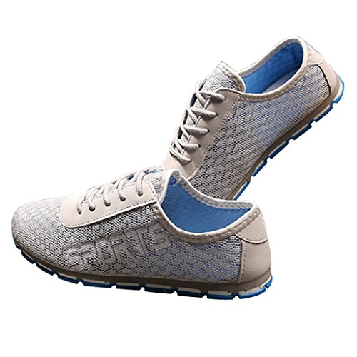 Cool Dear Slip Sport Mesh Summer On Time Mans gray colorized Shoes Super BwBxT64q
