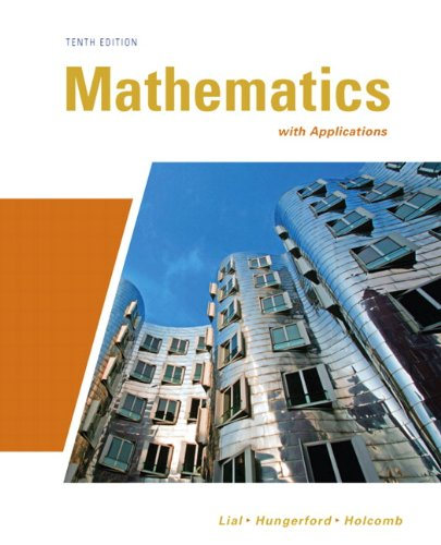 Check expert advices for mathematics with applications 10th edition lial?