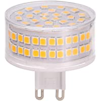 Lilideni AC 220-240V/9W G9 Light Bulbs with 88 LEDs Super Bright 900lm IC Constant Current 360° Lighting Angle Non-flicker for Home Lighting (3000k Warm White 1pcs)