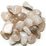 "Hypnotic Gems Materials: 5 lbs Tumbled ""A"" Grade Rutilated Quartz - Medium - 1"" to 1.5"" Average - Bulk Natural Polished Gemstone Supplies for Wicca, Reiki, and Energy Crystal Healing"