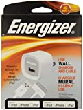 Energizer 10W USB Wall Charger and Apple Compatible 30-Pin Cable