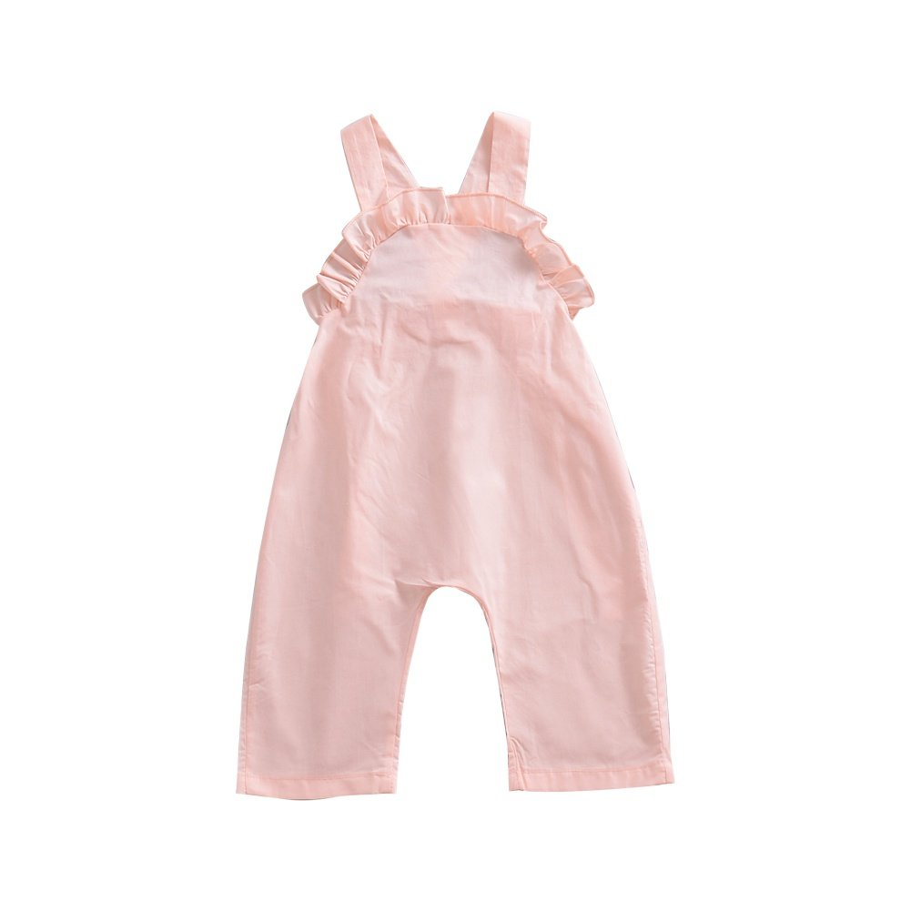 Brightup 6 Months -4 Years Girl Summer Straps Trousers Casual Pants Kids Overalls Baby Jumpsuit