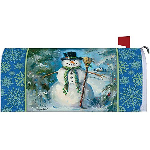 Top Hat Snowman Mailbox Makover Cover - Vinyl with Magnetic Strips