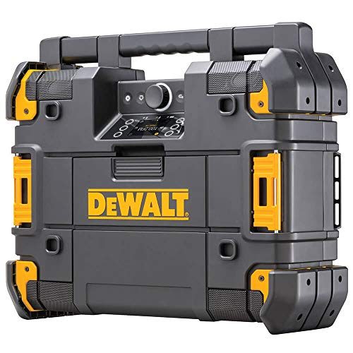 DEWALT TSTAK Jobsite Radio & Battery Charger, Bluetooth (DWST17510)
