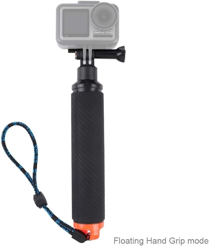 Floating Hand Grip Diving Buoyancy Stick with Adjustable Anti-Lost Strap /& Screw /& Wrench for DJI Osmo Action Durable CAOMING Shutter Trigger