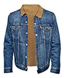 Spier Love Simon Nick Robinson Fur Sherpa Denim Jacket,Blue,XX-Large