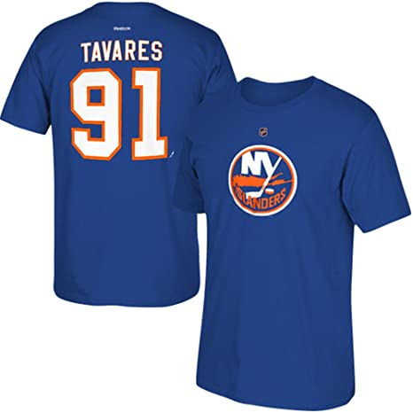 factory authentic 3ff26 0a800 Reebok John Tavares New York Islanders Jersey Name and Number T-Shirt