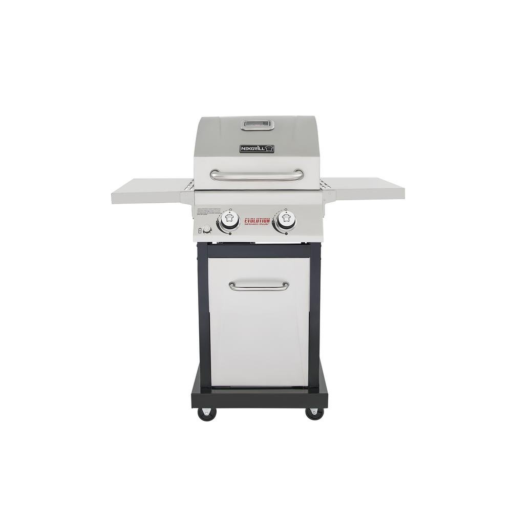 4. Nexgrill Evolution 2-Burner Propane Gas Grill in Stainless Steel with Infrared Technology