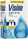 Visine Dry Eye Relief Lubricant Eye Drops, 2 Count