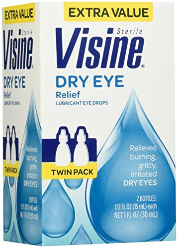 Visine Dry Eye Relief Lubricant Eye Drops, 2 Count