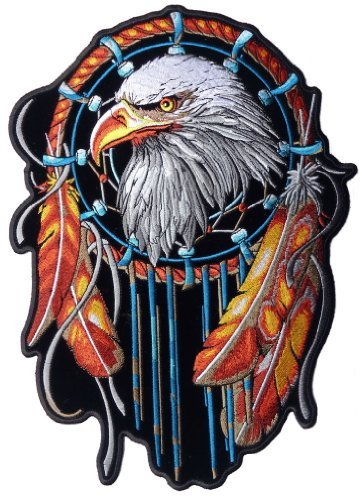 - EAGLE DREAM CATCHER American Indian New USA Biker LARGE New BACK Patch LRG-0371
