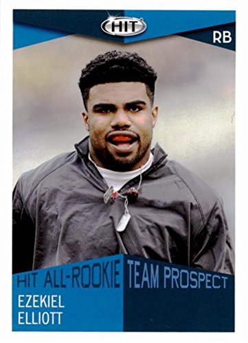 ball card (Ohio State Dallas Cowboys Zeke) 2016 Sage Hit All Rookie #59 ()