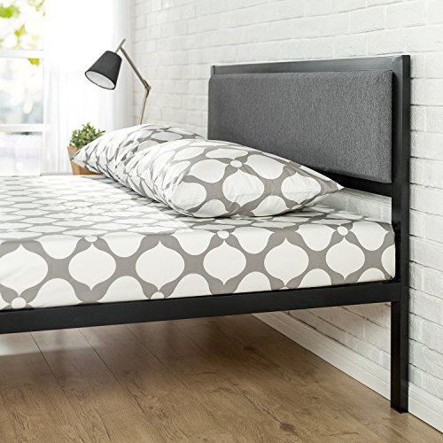 Zinus 14 Inch Platform Metal Bed Frame With Upholstered