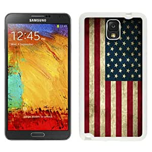 High Quality Samsung Galaxy Note 3 Case ,American Flag White Samsung Note 3 Cover Unique And Fashion Designed Phone Case