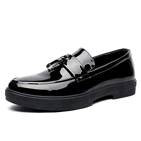 Jiuyue-shoes Hombre Mocasines, Para hombre Negro Penny ...