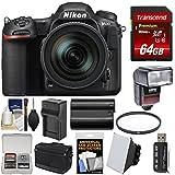 Nikon D500 Wi-Fi 4K Digital SLR Camera & 16-80mm VR Lens with 64GB Card + Case + Flash + Battery & Charger + Filter + Kit