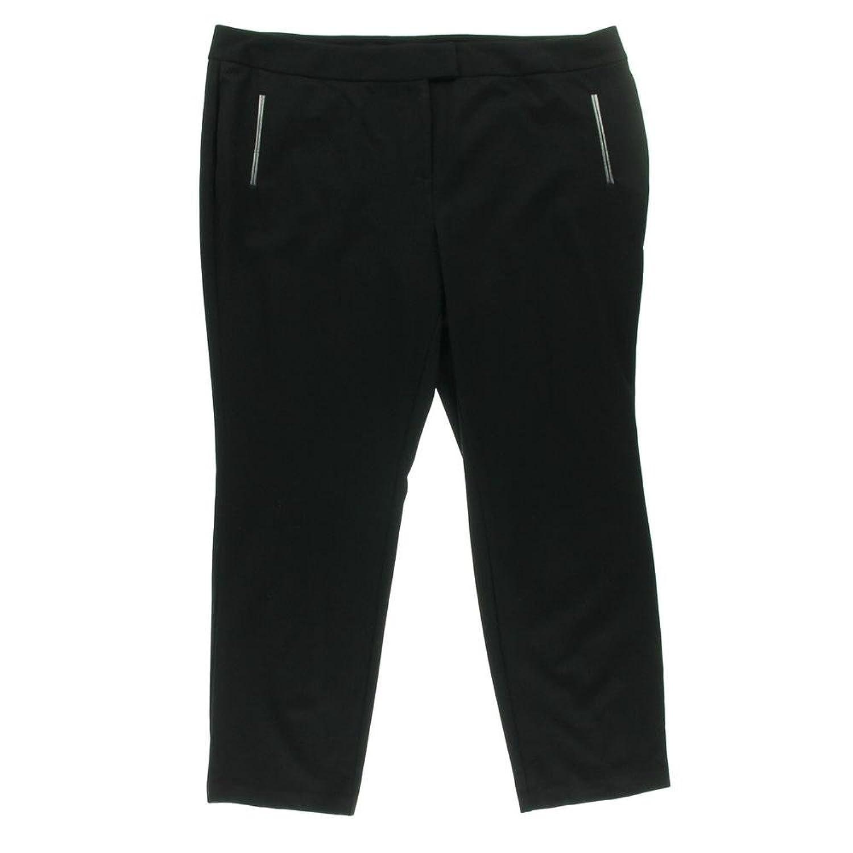 Alfani Women's Dress Pants 14W Deep Black