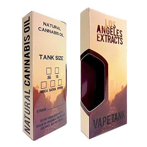 100 Los Angeles Shatter Oil Slim Display Packaging Boxes by Shatter Labels VB-025 by Shatter Labels