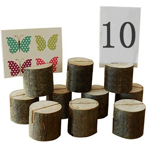 Haperlare 10pcs Wooden Table Number Holders Wooden Place