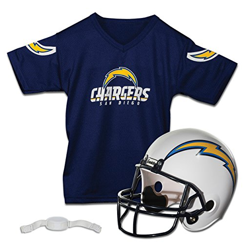 San Diego Chargers Youth Jerseys (Franklin Sports NFL San Diego Chargers Replica Youth Helmet and Jersey Set)