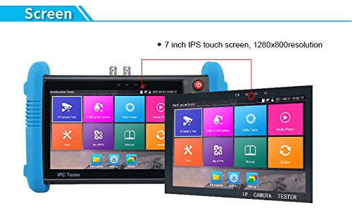 Yes-Original 7 Inch IPS Touch Screen IP/CCTV Camera Tester TVI CVI AHD IP CVBS CCTV CVBS Analog Tester with POE/IP discovery/Rapid ONVIF/4K H.265/HDMI In&Out/RJ45 TDR/Dual Window (IPC-9800ADH Plus)