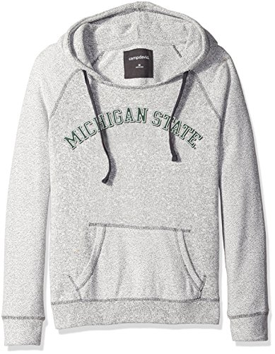 - Camp David NCAA Michigan State Spartans Women's Reverse Sleeve and Pocket Hoodie, Large, Pepper/Charcoal