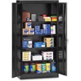 Tennsco 7218 24 Gauge Steel Standard Welded Storage Cabinet, 4 Shelves, 150 lbs Capacity per Shelf, 36'' Width x 72'' Height x 18'' Depth, Black