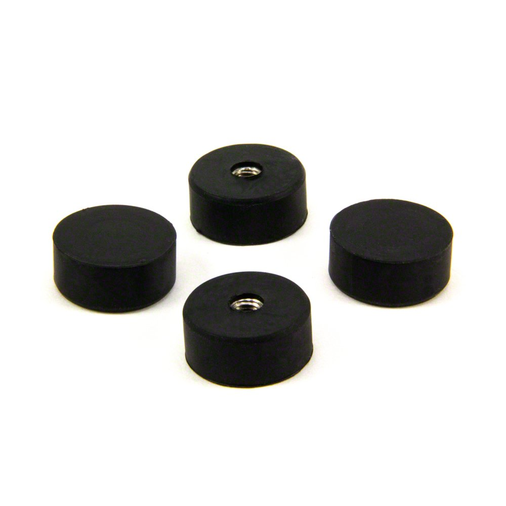 Magnet Expert  22mm dia x 10mm thick x M5 thread hole Rubber Coated Pot Magnet - 3.8kg Pull ( Pack of 4 ) Magnet Expert® F606R-4