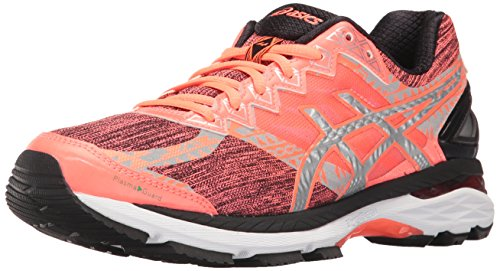 ASICS Women's Gt-2000 4 Lite-show Pg Track Shoe, Flash Coral/Silver/Black, 8 M US by ASICS
