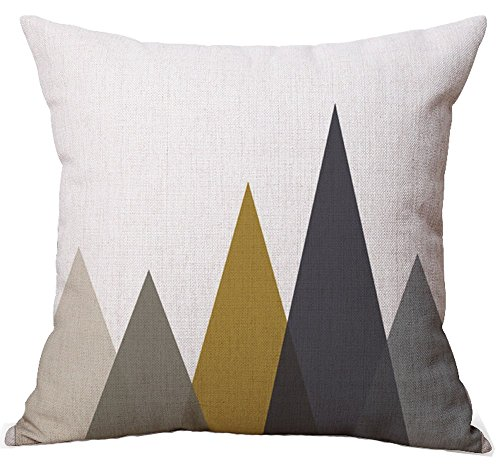 Modern-Simple-Geometric-Style-Cotton-Linen-Burlap-Square-Throw-Pillow-Covers-18-x-18-Inches-Pack-of-4
